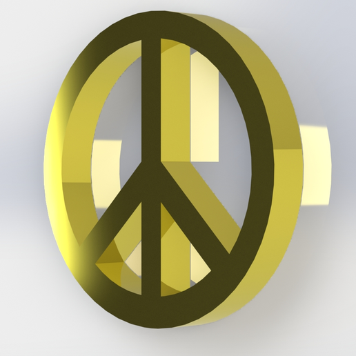 Paz 3.png Download free STL file Peace symbol • Object to 3D print, Lubal