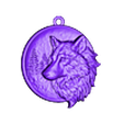 wolf pendant medallion.stl Download free STL file Wolf pendant medallion jewelry 3D print model • 3D print template, Cadagency