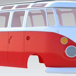 Bus66.png Download STL file VW Bus 21 Window 1:10 RC Body • 3D printable template, jorgeriano