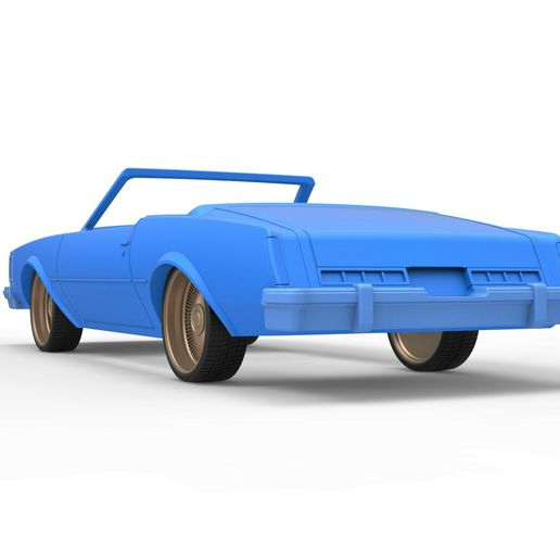 14.jpg Download STL file Diecast shell and wheels Buick Regal 1977 cabriolet Scale 1:25 • 3D printable design, CosplayItemsRock