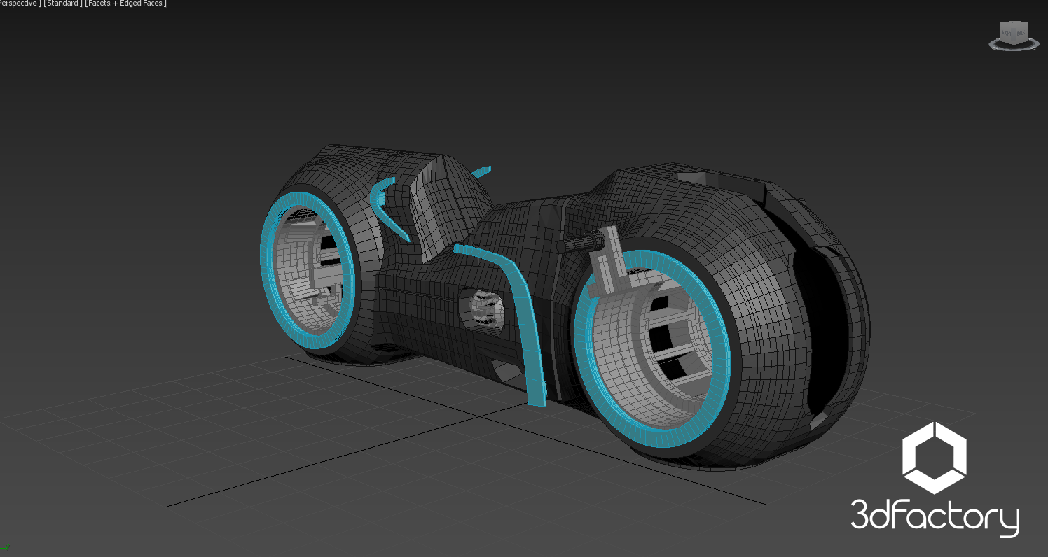Img1.png Download STL file Tron Legacy Light Cycle - 3dPrintable - 3dFactory Brasil • Template to 3D print, 3dFactory
