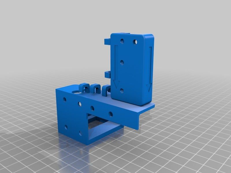 48daac3e5d4ff9f5d58f407d685859ba.png Download free STL file ANET A8 - X-Axis chain, filament sensor, and support for removable fan connector. • Model to 3D print, Didakis