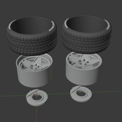 w0.JPG Download STL file 3d5 Style Wheel set - two offsets - for diecast and RC model 1/64 1/43 1/24 1/18 1/10.... • 3D print template, BlackBox