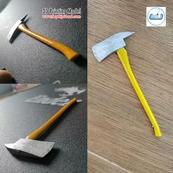 00.jpg Download DXF file Axe • Template to 3D print, LaythJawad
