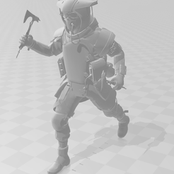 bloodhound-with-axe.png Download STL file Bloodhound Apex legends  • 3D print template, ViTALiTY