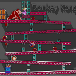 donkey.png Download free STL file donkey kong • 3D printable template, tyh
