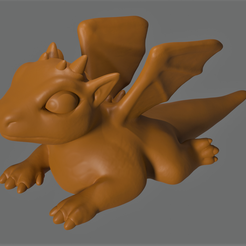 BorisTheBabyDragon.png Download free STL file Boris the Baby Dragon • 3D printable template, Piggie