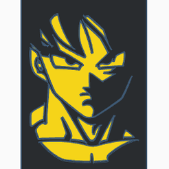 4.png Download STL file Picture Silhouette - Goku • Design to 3D print, petete