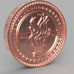 "gvint coin 1.PNG Download STL file Tussent coin for the game ""Gwent"". Witcher • 3D print template, Skap14"