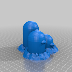 Dugtrio.png Download free STL file #051 DUGTRIO (POKEMON) • 3D printing object, Ci_Francy