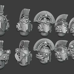 NewCanvas5.jpg Download STL file Greek Helmets - Veteran/Command Version • 3D printer design, Red-warden-miniatures