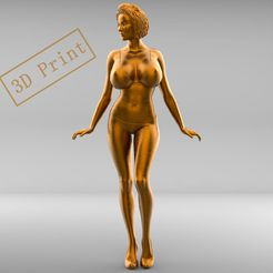3.1e.jpg Download 3MF file POSE N3 ATTRACTIVE WOMAN MINIATURE 3D PRINT MODEL • 3D print model, nasiri12460