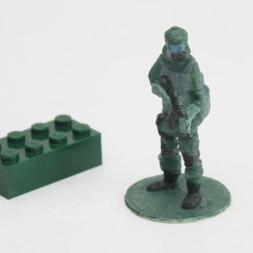 Gas_soldier_preview_featured.jpg Download free STL file Gas mask soldier on stand • Object to 3D print, Steyrc