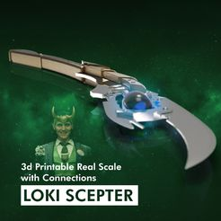 MD_Loki1-22.jpg Download STL file LOKI SCEPTER - Real Scale with separated components to assemble! • Design to 3D print, R3Designn