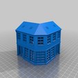 house.png Download free STL file Town house in H0 / HO • 3D printable template, NordicTram