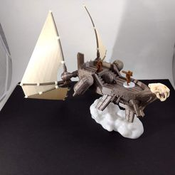 f7522e2899173c6ae77a2ab3631f24f6_display_large.jpg Download free STL file Sails and cloud base for Flying Ship • Design to 3D print, FelixTheCrazy