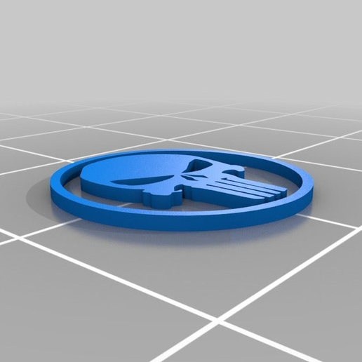 Modern-Punisher-Logo.png Download free STL file The Punisher - Logo • 3D printing object, AwesomeA
