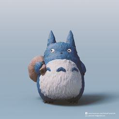 Medium Totoro_2.jpg Download free STL file Medium Totoro(My Neighbor Totoro) • 3D printing template, PatrickFanart