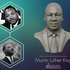 01.jpg Download OBJ file Martin Luther King head sculpture ready to 3D print • 3D printing model, selfix