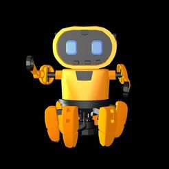black.jpg Download STL file Tobbie The Robot • 3D printable design, irfanbukhari3377
