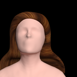 2.png Download free file Free worldly woman's hair • 3D printer template, NadavRock