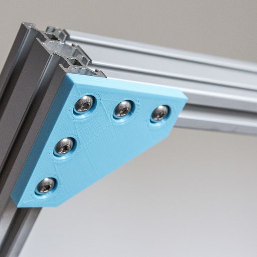 A_IMG_1364.jpg Download free STL file Customizable Plate Bracket for Aluminium Extrusion Profiles (Misumi 2020, 2040, 4040, ...) • 3D printing design, MightyNozzle