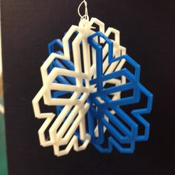 snowflake2.jpg Download free STL file Snowflake Ornament • 3D printer design, Ludwig-Concerto