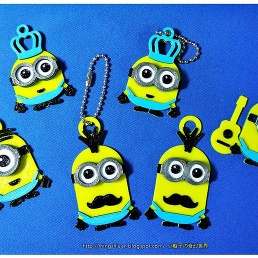 minion_23.jpg Download free STL file Minions Keychain / Magnets - Father's Day cute version • Design to 3D print, mingshiuan