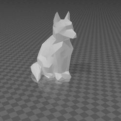 Chien-assis.jpg Download STL file Sitting dog • 3D printing template, antho52
