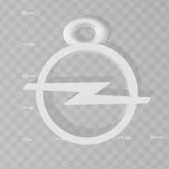 Logo opel.JPG Download free STL file Opel key ring • 3D print design, 3dleofactory