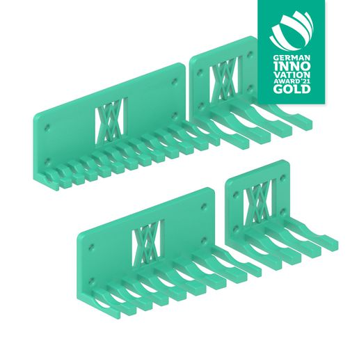 016_02_gia.jpg Download free STL file XXL Combination Spanner Set 26pcs metric 6-32 mm Wall Holder 016 I for screws or peg board • 3D printer template, ENABLE3D