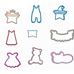 babytodos.png Download STL file 9 baby showers/birth cookie cutters • Template to 3D print, 3dcookiecutter