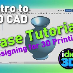d602d471ce08931d5abbab1494302ef7_display_large.jpg Download free STL file Vase Tutorial - Intro to CAD for 3D printing • Model to 3D print, idig3d