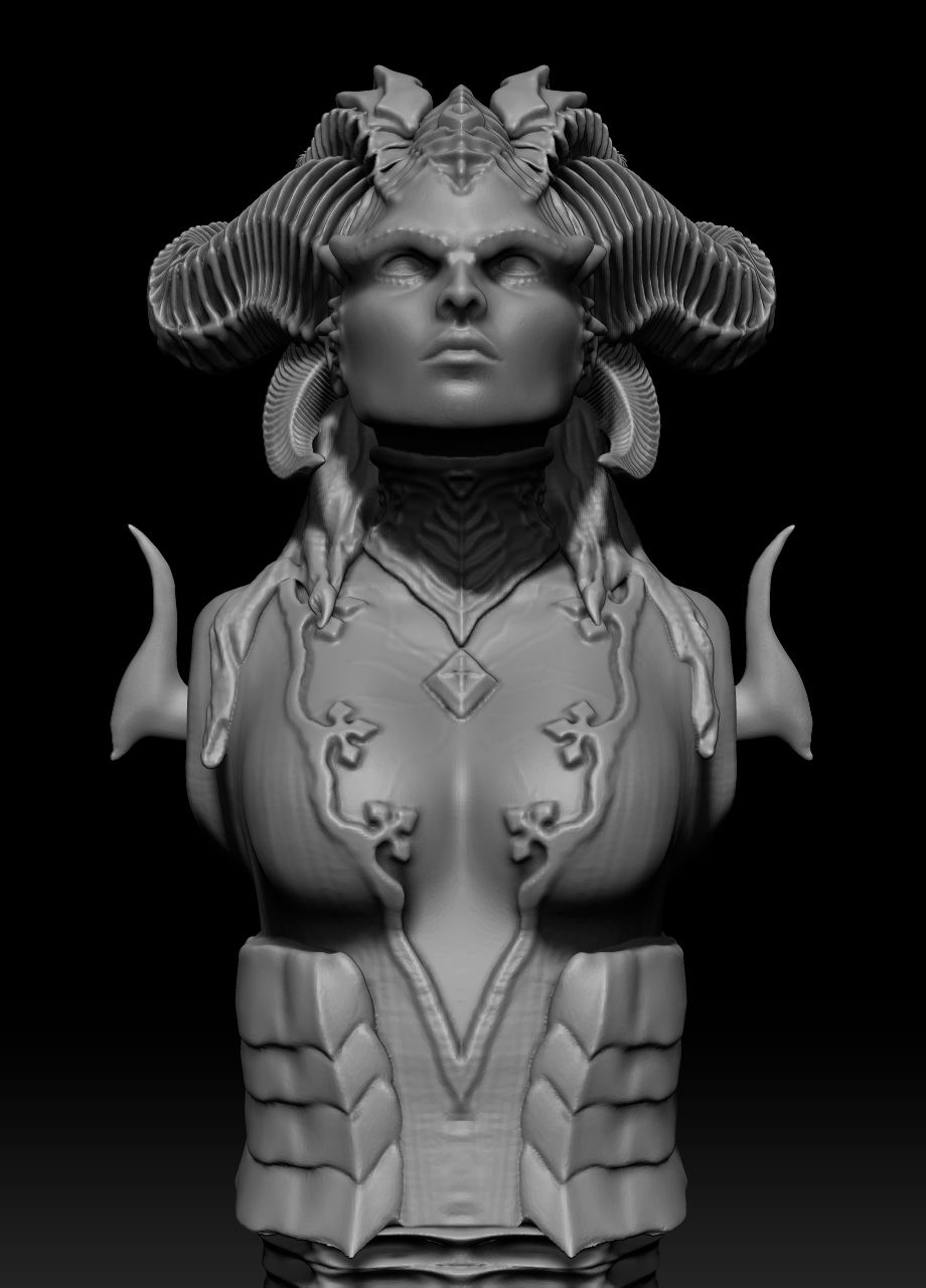 preview5.jpg Download STL file Lilith bust  • Model to 3D print, franaguayo