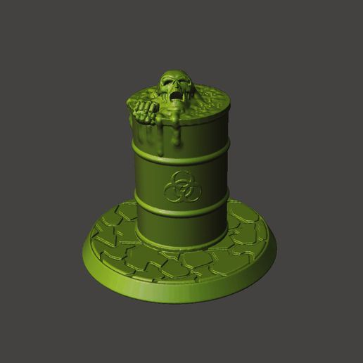 zombB0.JPG Download free STL file 28mm toxic Undead Zombie Emerging from Barrel • 3D printing template, BigMrTong