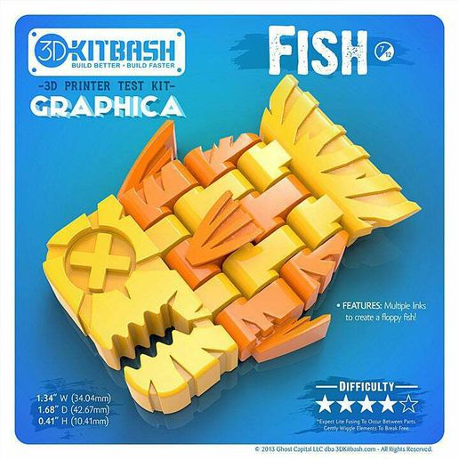 3DKitbash_Graphica_Fish_2.jpg Download free STL file Graphica: Fish - 3DKitbash.com - Print & Play • 3D printer object, Quincy_of_3DKitbash