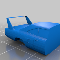Plymouth_Superbird_back.png Download free STL file Keychain Plymouth Superbird • Template to 3D print, Louisdioramas