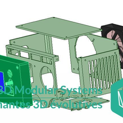 Boitier_Modulaire_Arduino_Ramps_2.5.png Download free STL file Electronic case for Arduino Mega 2560 + Ramps 1.4 + LCD 2004 - 3D Modular Systems • 3D printer model, 3DMS