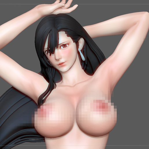 3.jpg Télécharger fichier STL TIFA SEXY NAUGHTY NAKED HENTAI VERSION FINAL FANTASY CHARACTER ANIME STATUE 3D MODEL • Objet pour impression 3D, figuremasteracademy
