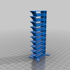 TempTower_PLA_180-225.png Download free STL file Flat first layer Smart compact temperature calibration tower • 3D printing object, Binguin
