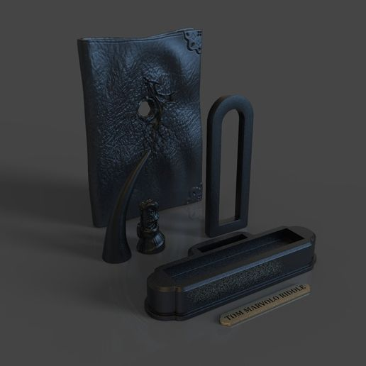 12.jpg Download STL file Tom Riddle Diary and The Basilisk Fang - Harry Potter • 3D printer object, tolgaaxu