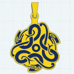 0_0.png Download free STL file Celtic jewel with 3 snakes • Object to 3D print, oasisk