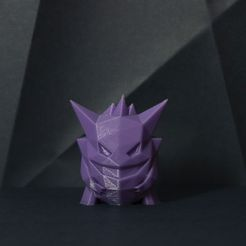 pokemonDSC_0707rew.jpg Download free STL file Gengar Low-poly Pokemon • 3D printing template, 3D-mon
