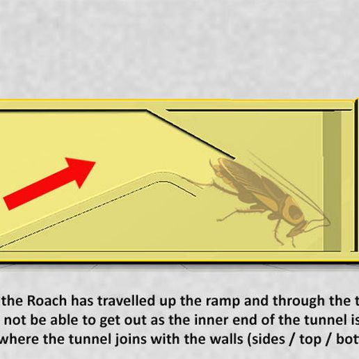 8af2617ed11cf89ec054c52d0b31a48f_display_large.jpg Download free STL file Roach Trap...Reusable trap to catch and kill cockroaches • Template to 3D print, Muzz64