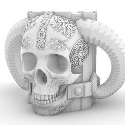 calavera.png Download free STL file Viking Glass • Template to 3D print, maxwar91