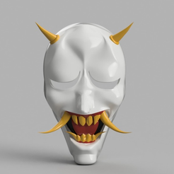 Capture d'écran 2017-09-14 à 14.20.26.png Download free STL file Hannya Mask Rurouni Kenshin (Ninja) • Model to 3D print, VillainousPropShop