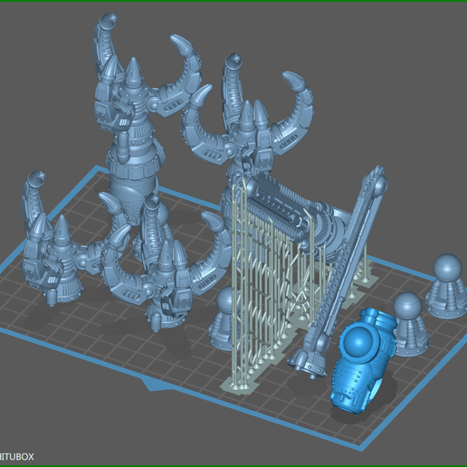 ClawLayout-1.png Download STL file Maggie Battle Claw And Chainsword For Questing Knights • 3D printing model, johnbearross