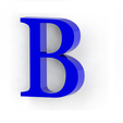 b3.png Download free STL file Letras / abecedario completo • Object to 3D print, Lubal