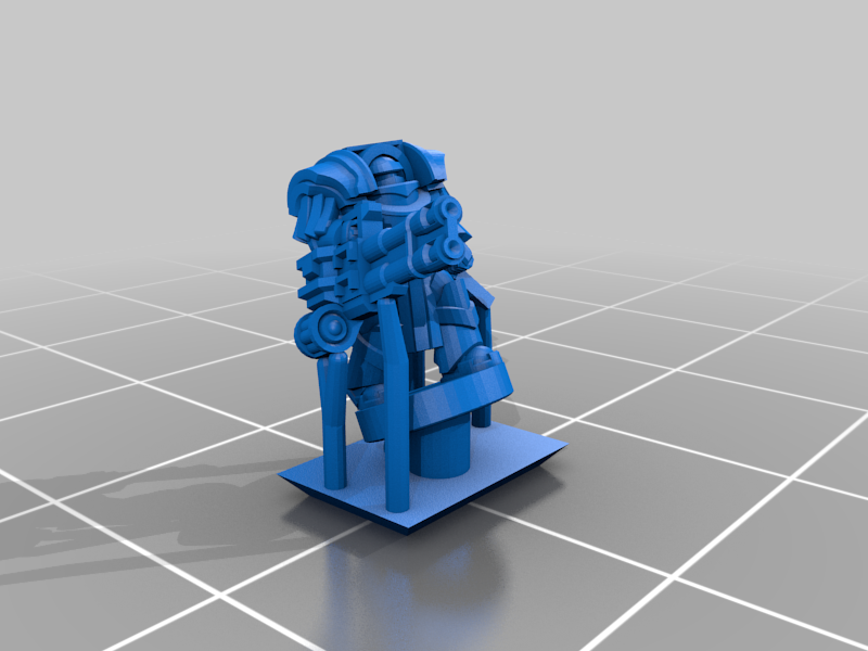 HeavySeigeArmour_Cannon_Chain.png Download free STL file Galactic Crusaders - Heavy Siege Armour Heavy Weapons- 6-8mm • 3D printable template, MoonJammy