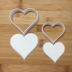love-hearts.png Download STL file cookie cutter love heart set of 2 • Template to 3D print, matthewmason